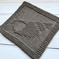 Eco Friendly Reusable Knitted  100% Recycled Cotton Wash Dish Cloth Shell Brown