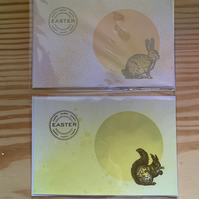 Pair of hand made Easter cards