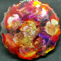 Multicoloured Resin Drinks Coaster