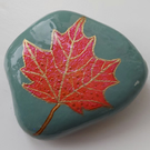 Sycamore Maple Leaf Painted Stone