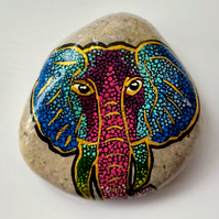 Painted Elephant Stone, Painted Elephant Rock, Rock Art