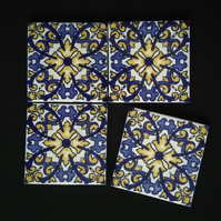 Mexican Tile Coasters (Cathedral)