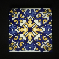 Mexican Tile Coaster (Cathedral)