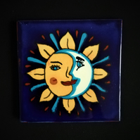 Mexican Tile Coaster (Night and Day)