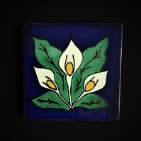 Mexican Tile Coaster (Lilly of the Valley)