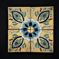 Mexican Tile Coasters (Regal) set of 4