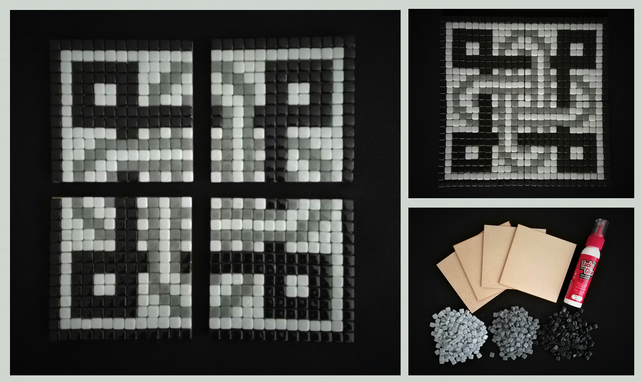 Mosaic Coaster kit (4 become 1) - the perfect craft project or that special gift