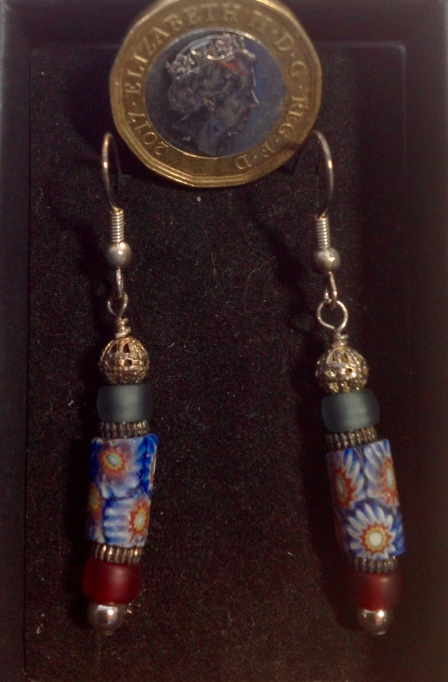 Delicate Earrings Made With Rare Antique Veneti Folksy