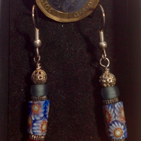 Delicate earrings made with rare antique Venetian trade beads