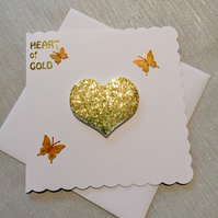 Heart of gold card, keepsake cards, special cards, thank you card, birthday card
