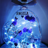 Get well soon, get well soon gift, light up heart, glass heart.