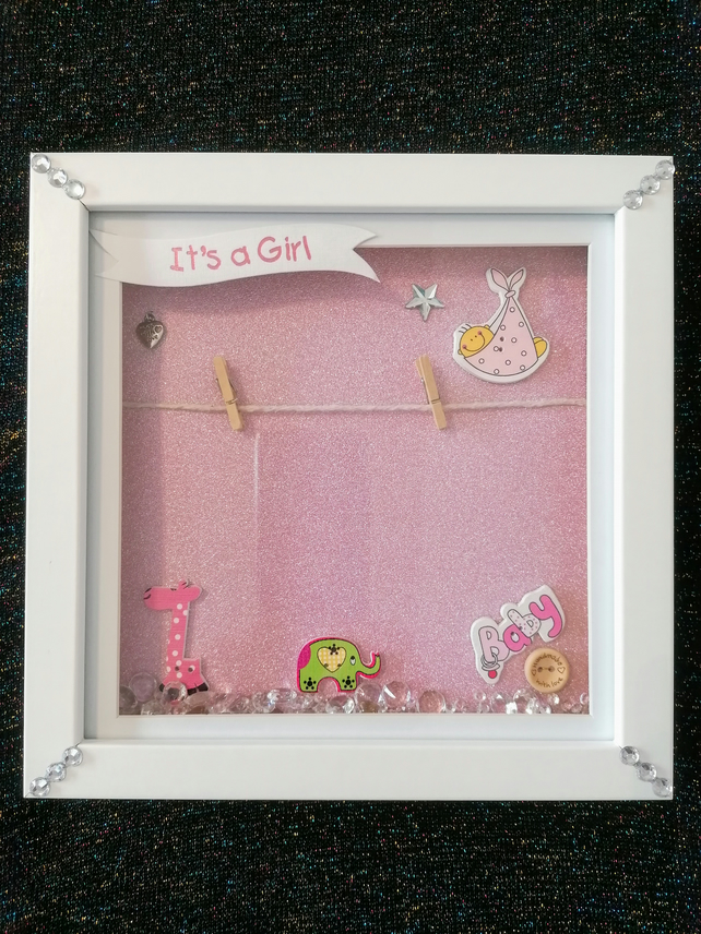New baby boy frame,  new baby girl frame, add your own photo frame, personalise
