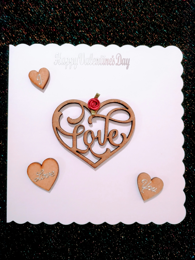 Valentines Day Card, 3d card. Anniversary card, romantic card, special occasion