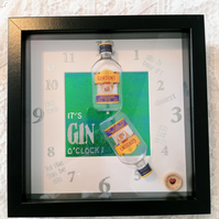 Novelty gin gift, 3d frame for a gin lover, love gin framed, gin picture.