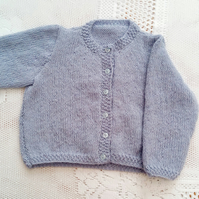 Classic Hand Knitted Baby's Round Neck Cardigan, Gift Ideas for Baby