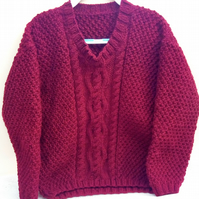 Children's Hand Knitted Cable Patterned Jumper, Children's Clothes