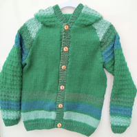 Baby and Children's Hooded Jacket with Raised Car Pattern, Child's Jacket