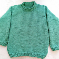 Chunky Classic Round Neck Jumper for Babies and Children, Child's Knitted Jumper