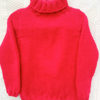 Cowl Neck Chunky Jumper for Babies and Children, Children's Clothes