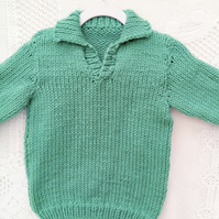 Chunky Classic Jumper with Collar for Babies and Children, Childrens Clothes