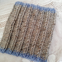 Super Chunky Knitted Wide Rib Snood for a Child, Child's Neck Warmer