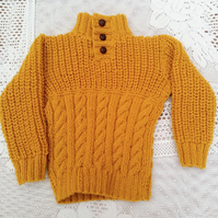 Cable and Rib Pattern Hand Knitted Children's Jumper, Children's Jumper