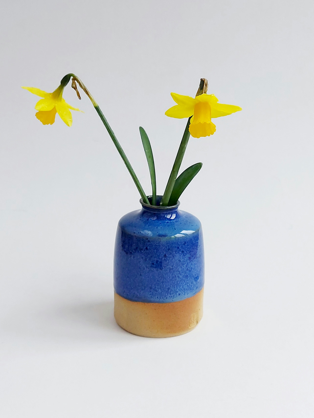 Small bud vase in Barbrook blue glaze