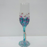 Champagne Flute Hand painted (can personalise)