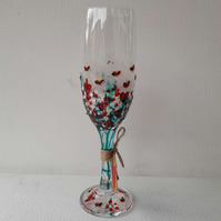 Valentine's, Champagne Flute, Hand painted (can personalise)