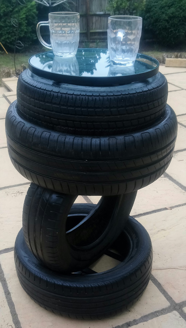 Tyre Drinks Table - Reclaimed Tyres Furniture