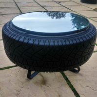 Reclaimed Tyre Coffee Table - Industrial Design Furniture