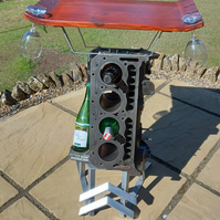 1968 Citroen DS Engine Block Table and Wine Rack