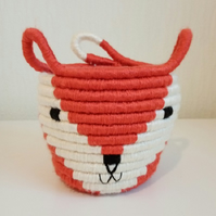 Coiled Rope, Fox Storage Basket
