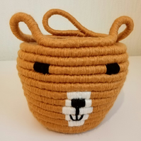 Teddy Bear, Coiled Rope, Storage Basket