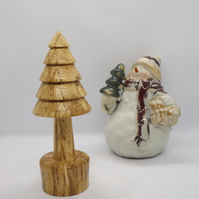Wood Turned Christmas Tree Oranment