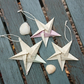 Origami hanging stars - set of 3 nautical decorations