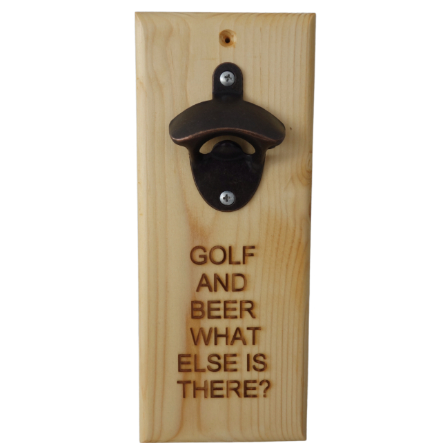 Beer Bottle Opener: Golf and beer, what else if there?