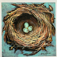 First nest, giclee print.