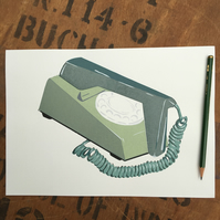 Two-Tone Green Dial Trimphone - SCREENPRINT