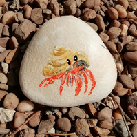 Hand painted Hermit Crab Pebble