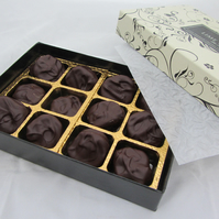 Stem Ginger Hand Dipped in Dark Couverture Chocolate
