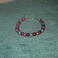 Children's Glass Pearl Beaded Bracelet