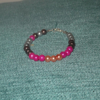 Children's Glass Pearl Bead Bracelet (3)