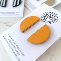 Semi Circle Statement Studs - Mustard