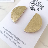 Semi Circle Statement Studs - Gold