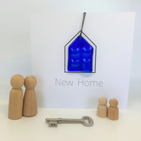 New Home Glass Keepsake Card