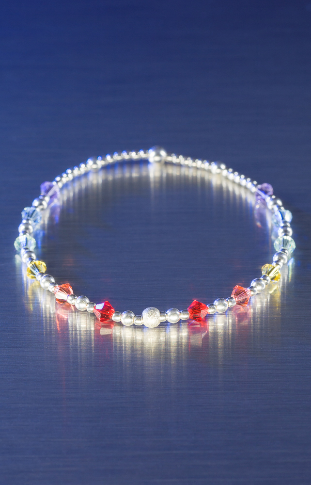 Pride sterling silver and Swarovski bracelet