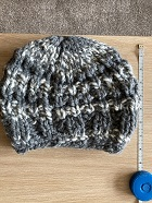 SOLD -TODDLER KNITTED CHUNKY WINTER BERET,2-4yrs,SOLD OUT