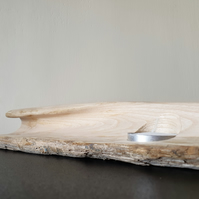 Hand Carved Breaking Wave Tealight Holder