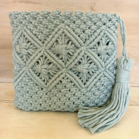 Macrame Clutch Bag,  Make Up Bag